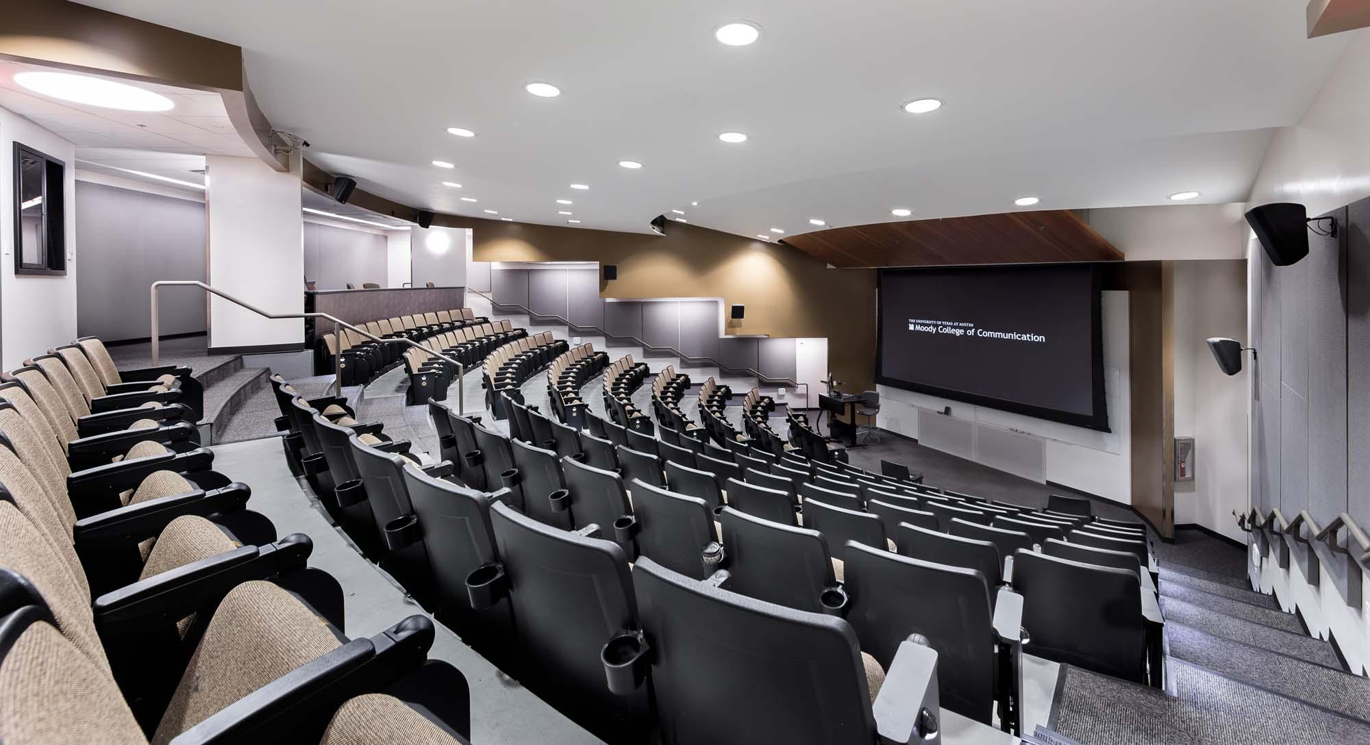 Classroom Auditorium Design ~ Cma university auditorium moody college of